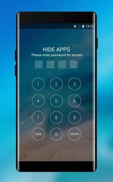 Theme for Xiaomi Mi 8 Pro &Phone 8 x ios Blue Sea screenshot 2