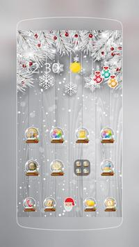 Silver Glittery Christmas poster