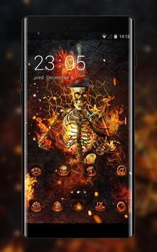 Fantasy Flame Skull theme for Lenovo k5 note poster