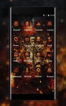 Fantasy Flame Skull theme for Lenovo k5 note screenshot 1