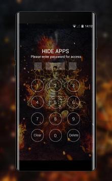Fantasy Flame Skull theme for Lenovo k5 note screenshot 2