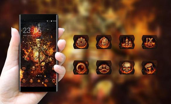 Fantasy Flame Skull theme for Lenovo k5 note screenshot 3