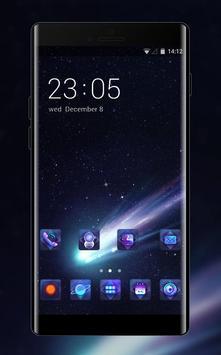 Space galaxy theme shootingstar dark star poster