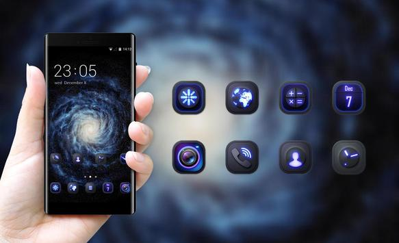 Space galaxy theme ad08 wallpaper ios8 iphone6 apk screenshot