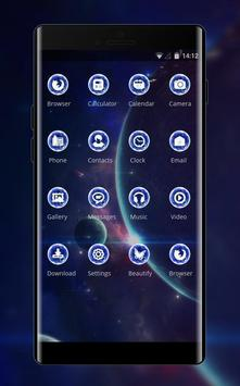 Space galaxy theme of mystery stars and screenshot 1