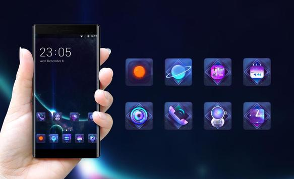 Space galaxy theme ae69 of mystery stars and apk screenshot