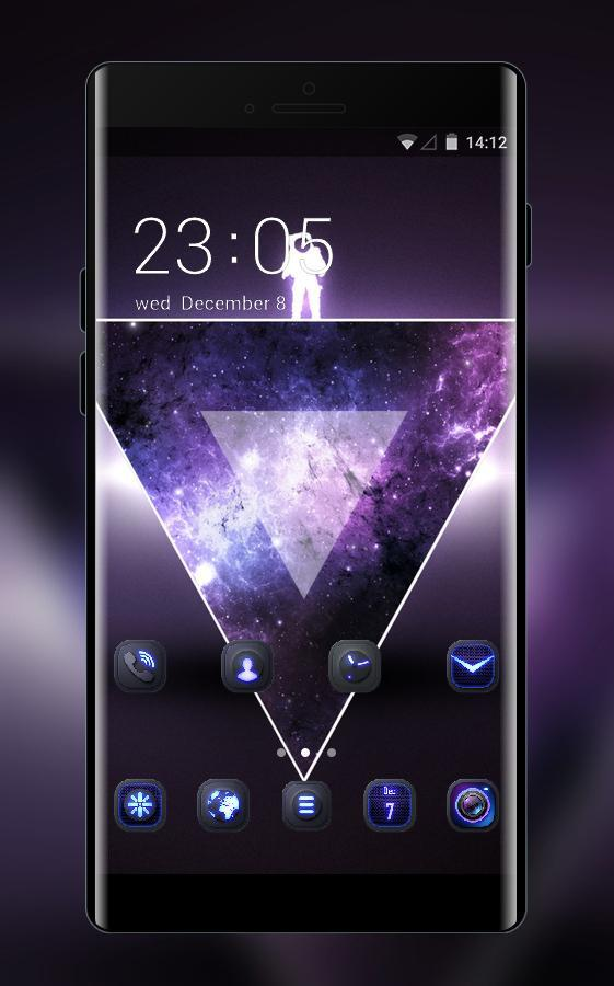 Abstract Space galaxy theme triangle wallpaper for Android