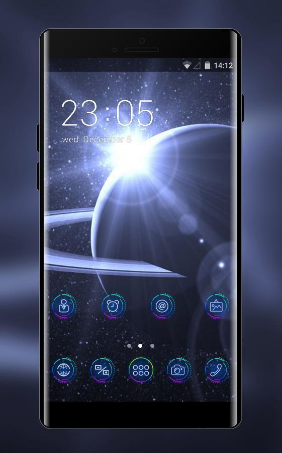 Space galaxy theme planet orbit cosmos wallpaper poster