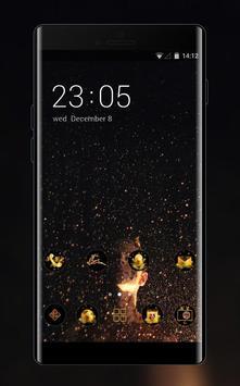 sparkle stars night theme poster