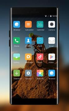 Theme for riding bike on the mountain wallpaper screenshot 1