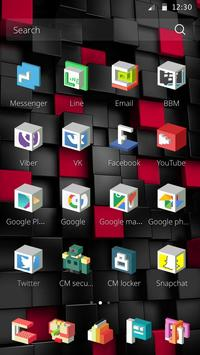3D Square Theme apk screenshot