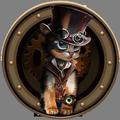 Steampunk Nostalgia Vintage Theme: Mechanical Cat