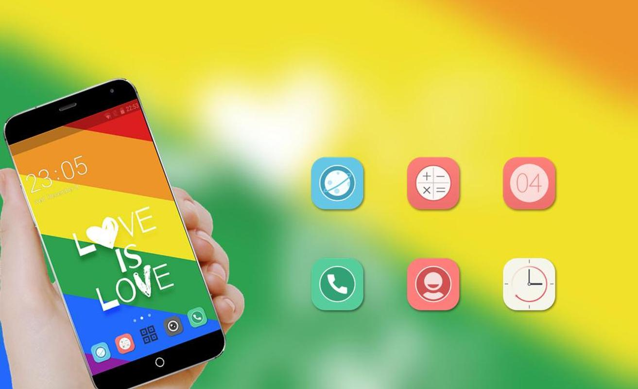 Rainbow Pride ThemeLove Wins Wallpaper For Androd 3
