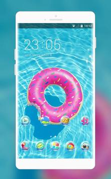 Theme for swimming pool wallpaper poster