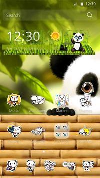 Cute Panda Theme poster