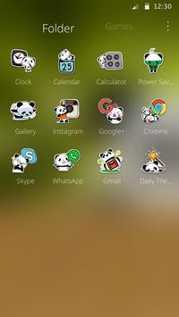 Cute Panda Theme apk screenshot