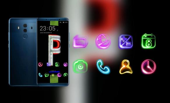 Theme for parking sign neon light simple wallpaper screenshot 3