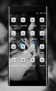 Pet animal theme wallpaper cat eyes blue black screenshot 1