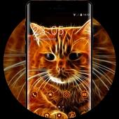 Kitty theme 3D Cat animal Live Wallpaper иконка