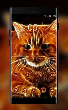 Kitty theme 3D Cat animal Live Wallpaper постер