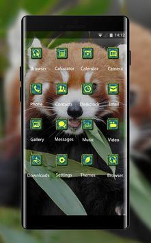 Pet animal theme wallpaper fox fire grass eat screenshot 1
