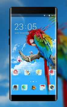 Pet animal theme colorful parrot wallpaper poster