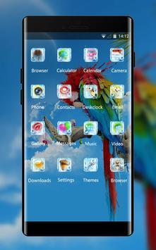 Pet animal theme colorful parrot wallpaper screenshot 1