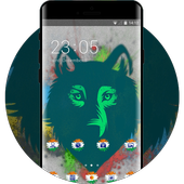 Pet animal theme wolf face drawing spot wallpaper icon