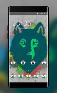 Pet animal theme wolf face drawing spot wallpaper poster