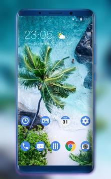 Theme for plant coconut tree beach wallpaper poster