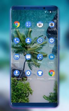 Theme for plant coconut tree beach wallpaper screenshot 1
