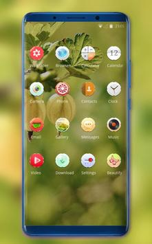 Theme for fall fresh fruit wallpaper screenshot 1