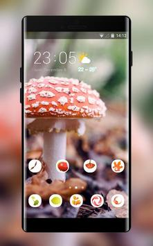 Theme for plant mushroom bright wallpaper poster