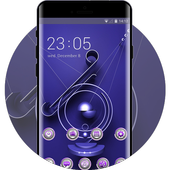 Theme for purple metal decoration wallpaper icon