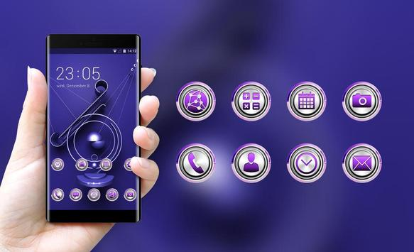 Theme for purple metal decoration wallpaper screenshot 3