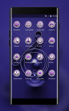 Theme for purple metal decoration wallpaper screenshot 1