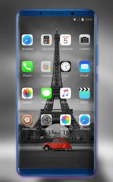 Theme for Xiao Mi Band 3 black red car tower road screenshot 1