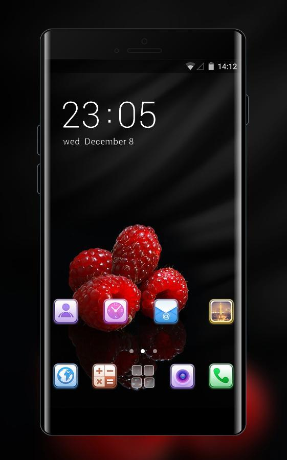 Cool Black Theme Red Raspberry Wallpaper For Android Apk