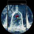 Dark Frozen Rose Theme: Beauty & Beast Wallpaper