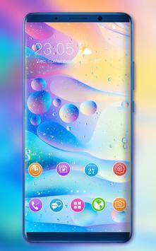 Theme for redmi6A bright bubble wallpaper poster