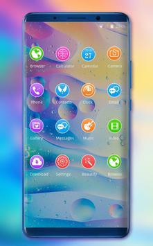 Theme for redmi6A bright bubble wallpaper screenshot 1