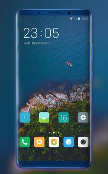 Theme for redmi 6A nature island forest wallpaper poster