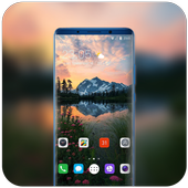 Theme for redmi 6A nature lake plant wallpaper icon