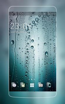 Water Drop HD Wallpaper Theme for Gaxlxy A7 poster