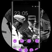 War theme generals during national day paris 2014 icon