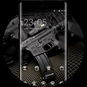 War theme wallpaper automatic black vest defense icon