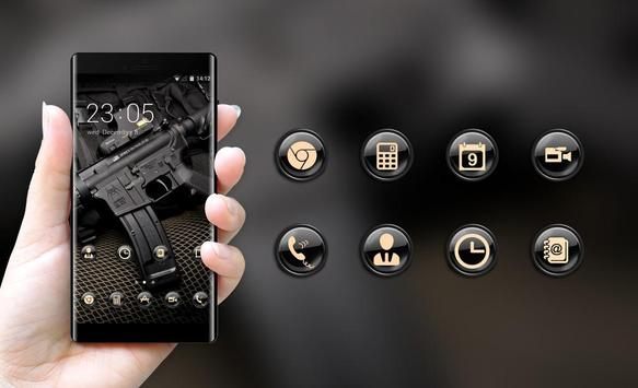 War theme wallpaper automatic black vest defense screenshot 3