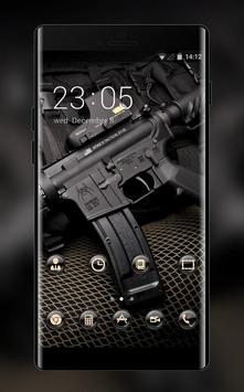 War theme wallpaper automatic black vest defense poster