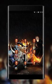 War theme weapon skul demon bone poster