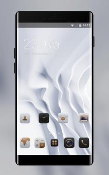 EMUI White Luxury Theme for Huawei poster
